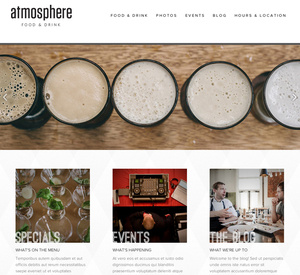 Website Template Atmosphere